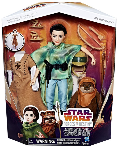 Star Wars Forces of Destiny Adventure Princess Leia & Wicket Figure 2-Pack [Endor Adventure]
