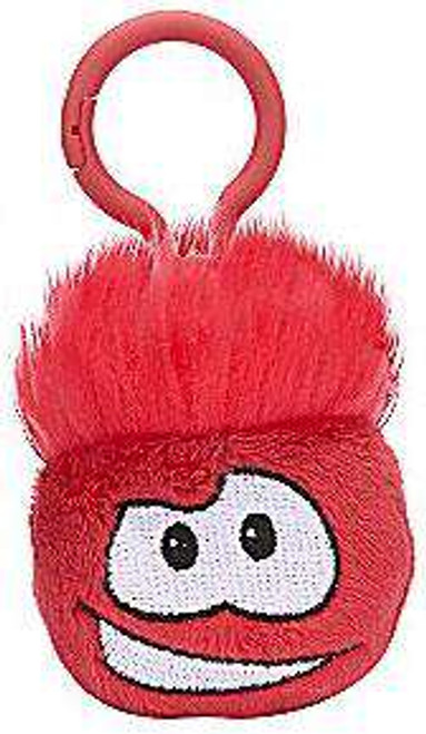 Disney Club Penguin Red Puffle 2-Inch Clip On Plush