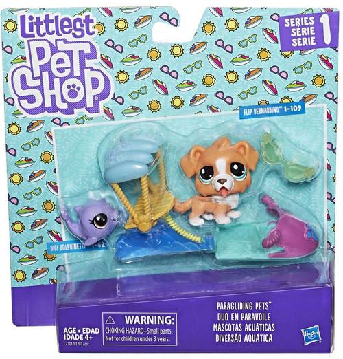 Littlest Pet Shop Series 1 Paragliding Pets Mini Figure 2-Pack [Didi Dolphnette & Flip Bernardino]
