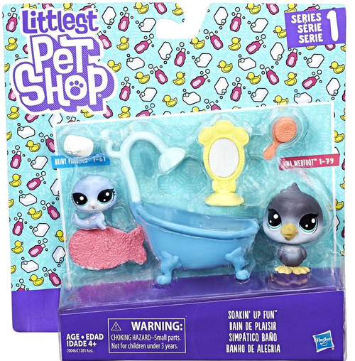 Littlest Pet Shop Bath Time Fun Mini Figure 2-Pack