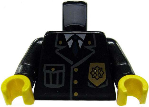 LEGO Black Jacket with Badge and Gold Buttons Loose Torso [Loose]