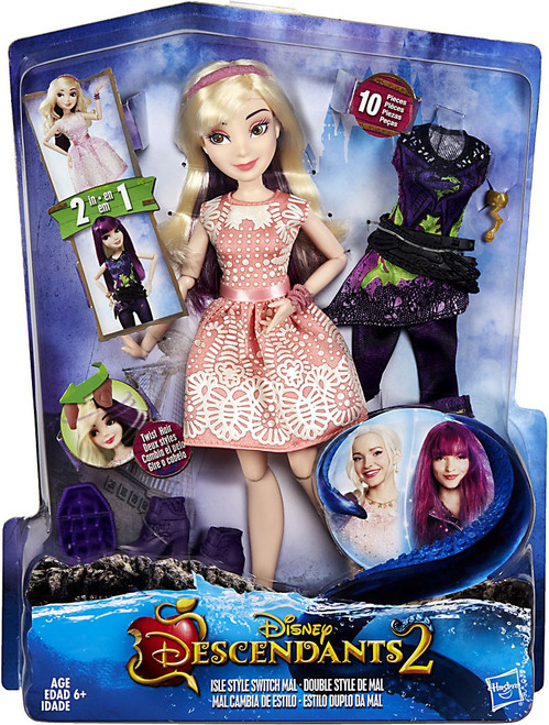 Disney Descendants Isle Style Switch Mal Deluxe Doll