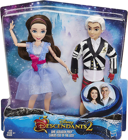 Disney Descendants Jane Auradon Prep & Carlos Isle of the Lost Fashion Doll 2-Pack