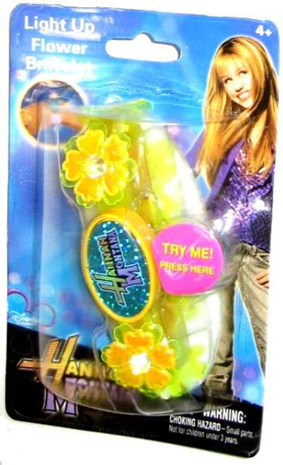 Disney Hannah Montana Light Up Flower Bracelet [Yellow]