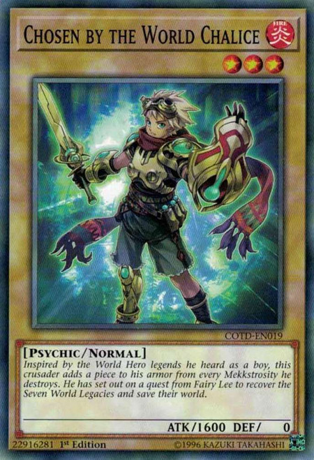 YuGiOh Code of the Duelist Common Chosen by the World Chalice COTD-EN019