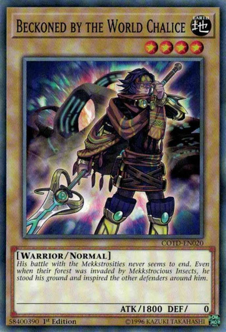 YuGiOh Code of the Duelist Common Beckoned by the World Chalice COTD-EN020