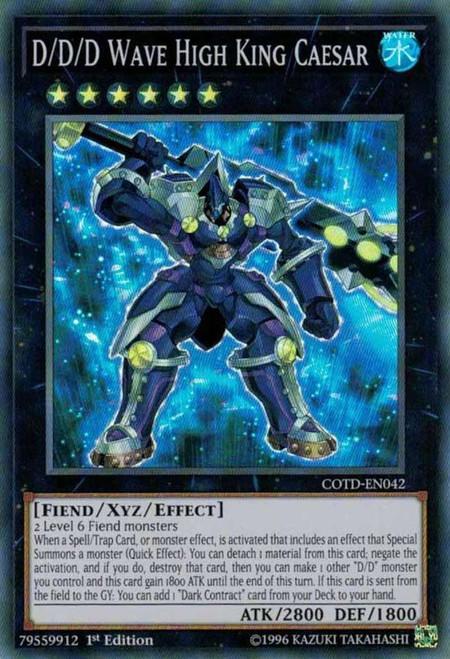 YuGiOh Code of the Duelist Super Rare D/D/D Wave High King Caesar COTD-EN042
