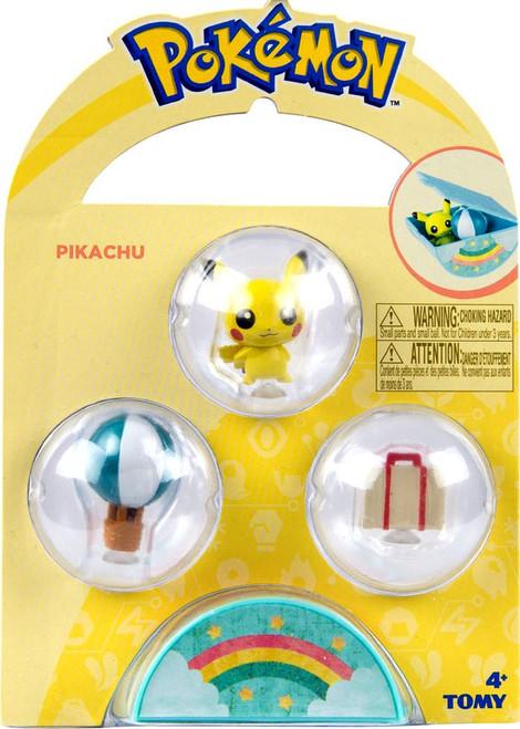 Pokemon Petite Pals Pikachu Mini Figure 3-Pack