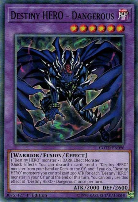 YuGiOh Code of the Duelist Common Destiny HERO - Dangerous COTD-EN096