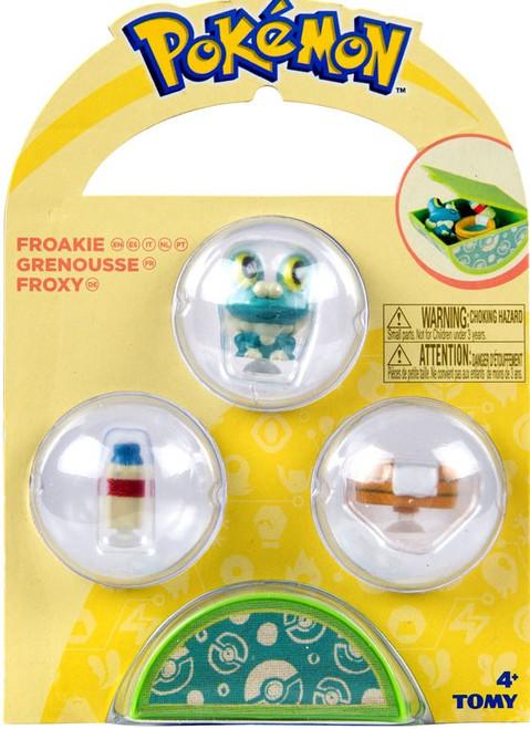 Pokemon Petite Pals Froakie Mini Figure 3-Pack