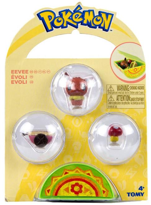 Pokemon Petite Pals Eevee Mini Figure 3-Pack