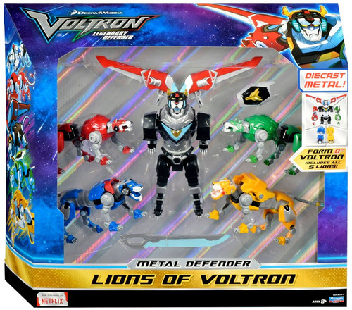 Voltron Legendary Defender Metal Defender Lions of Voltron Exclusive Diecast Action Figure