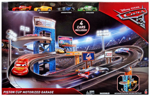 Disney / Pixar Cars Cars 3 Piston Cup Motorized Garage Exclusive Playset [Includes 4 Cars!]