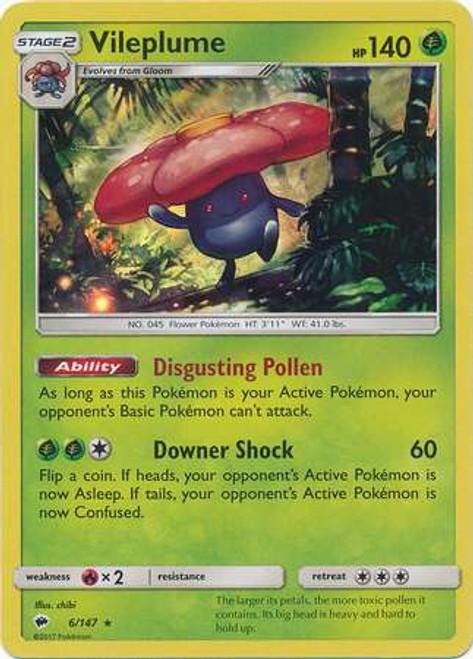 Pokemon Sun & Moon Burning Shadows Rare Holo Vileplume #6