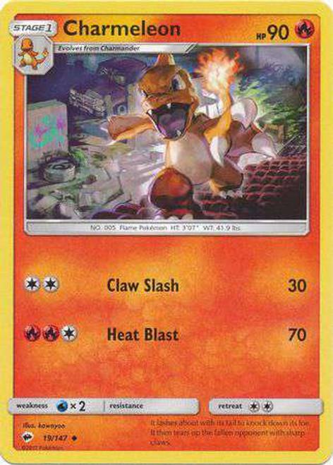Pokemon Sun & Moon Burning Shadows Uncommon Charmeleon #19