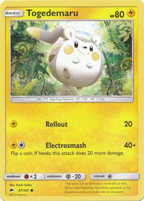 Pokemon Sun & Moon Burning Shadows Common Togedemaru #47
