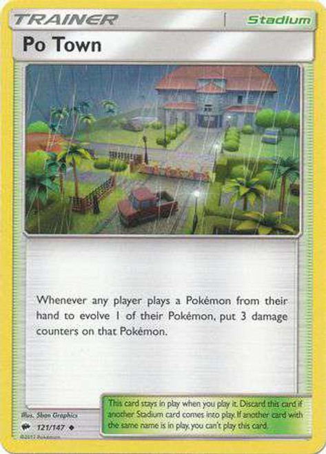 Pokemon Sun & Moon Burning Shadows Uncommon Po Town #121