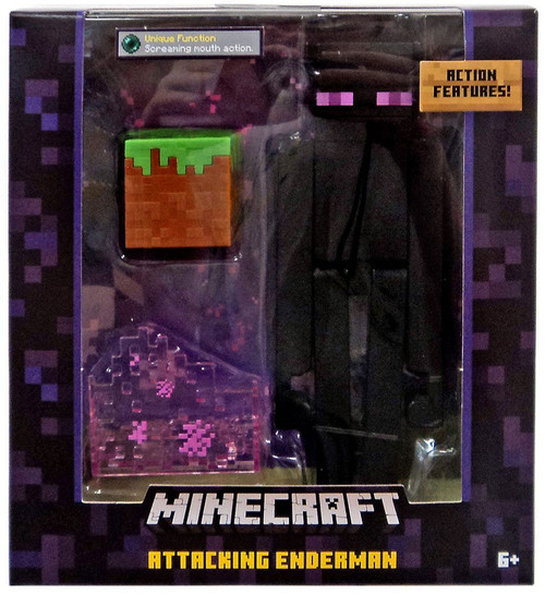 Minecraft Survival Mode Attacking Enderman Action Figure