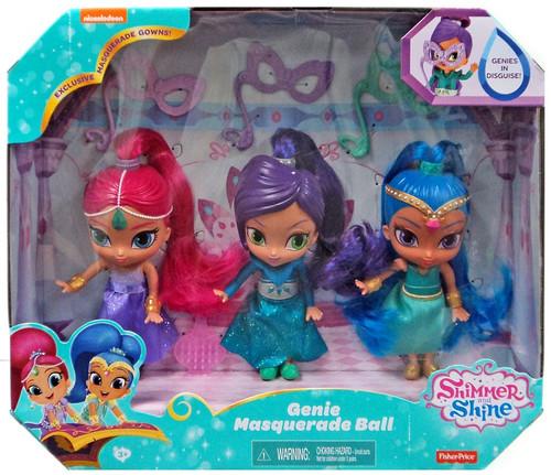 Fisher Price Shimmer & Shine Genie Masquerade Ball Exclusive 6-Inch Basic Doll 3-Pack [Shimmer, Shine & Zeta]