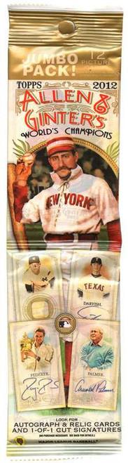 MLB Topps 2012 Allen & Ginter Baseball Trading Card JUMBO Pack [12 Cards!]