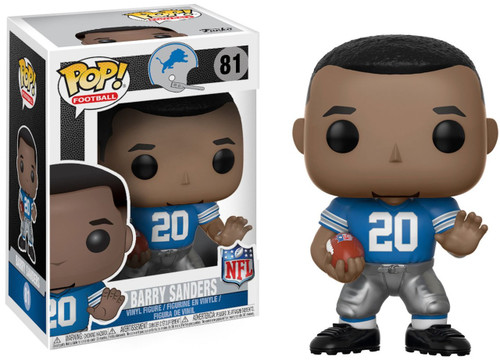Funko NFL Detroit Lions POP! Sports Football Barry Sanders Vinyl Figure #81 [Lions Home]