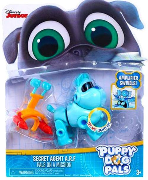 Disney Junior Puppy Dog Pals Light Up Pals On A Mission Secret Agent A.R.F. Action Figure [Amplifier Swivels]