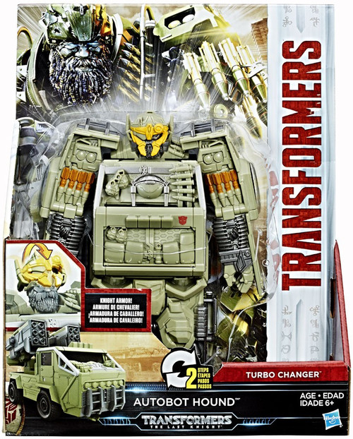 Transformers The Last Knight 2 Step Turbo Changer Hound Action Figure