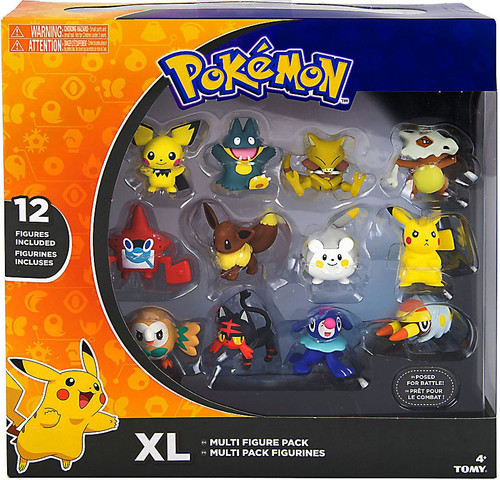 Pokemon XL 2-Inch Mini Figure 12-Pack [2017 Version with Pikachu, Eevee, Cubone & More]