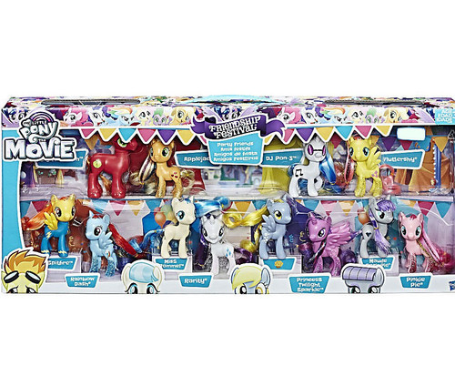 My Little Pony The Movie Friendship Festival Party Friends Exclusive Figure 12-Pack