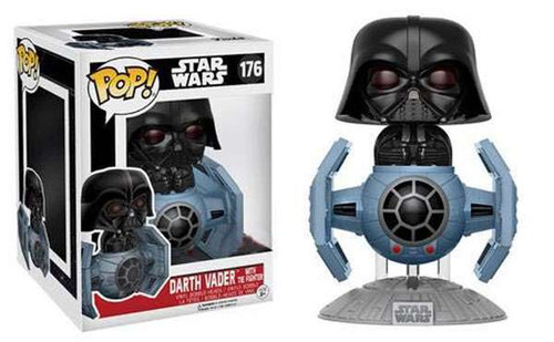 Funko POP! Star Wars Darth Vader With Tie Fighter Exclusive Vinyl Bobble Head #176 [40th Anniversary]