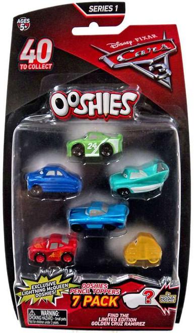 Disney / Pixar Cars 3 Ooshies Series 1 Yardley, Hudson, Flo, Ramone, Crash McQueen & Luigi Pentcil Topper 7-Pack