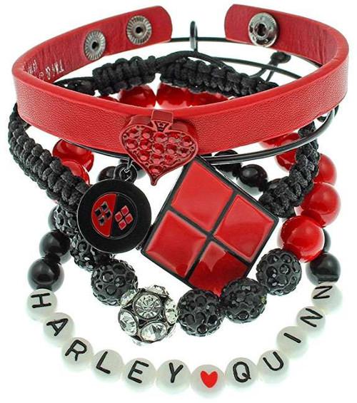 DC Suicide Squad Harley Quinn Arm Party Bracelet Set Apparel