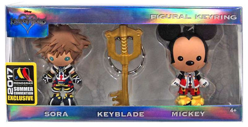 Disney 3D Figural Keychain Kingdom Hearts Exclusive 3-Pack