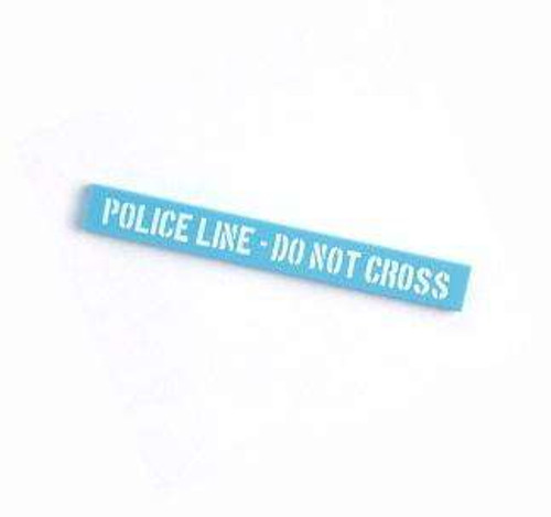 Citizen Brick Custom Painted Police Line 8x1 Tile Loose Accessory [Do Not Cross Loose]
