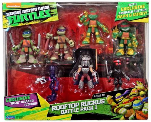 Teenage Mutant Ninja Turtles Tales of the TMNT The Samurai Rooftop Ruckus Battle Pack 1 Mini Figure 7-Pack
