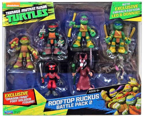 Teenage Mutant Ninja Turtles Tales of the TMNT The Samurai Rooftop Ruckus Battle Pack 2 Mini Figure 7-Pack