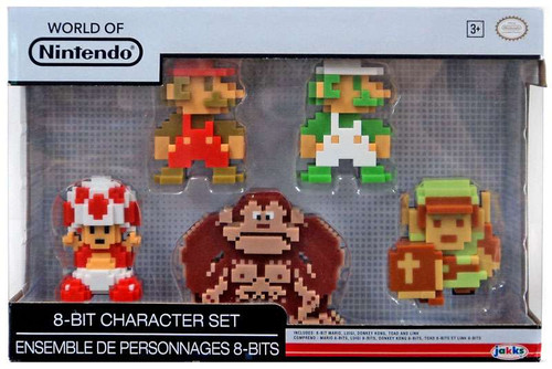 World of Nintendo Legend of Zelda 8-Bit Character Set 2.5-Inch Mini Figure 5-Pack [Mario, Luigi, Toad, Donkey Kong & Link]