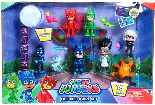 Disney Junior PJ Masks Deluxe Figure 11-Pack Set [16 Pieces!]