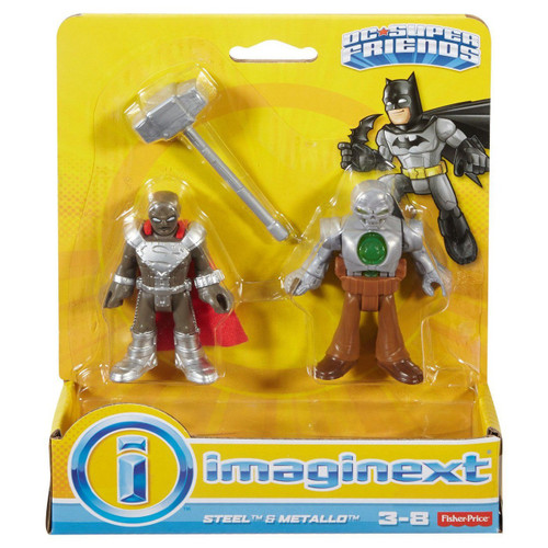 Fisher Price DC Super Friends Imaginext Steel & Metallo Figure 2-Pack