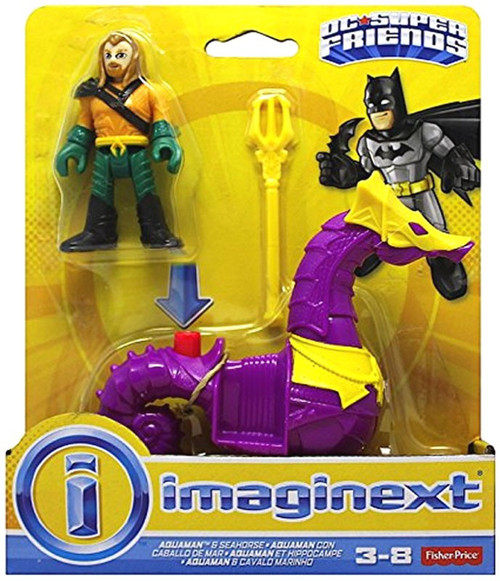 Fisher Price DC Super Friends Imaginext Aquaman & Seahorse Figure 2-Pack [Purple Seahorse]