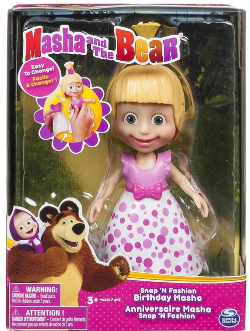 Masha and the Bear Snap 'N Fashion Birthday Masha Figure
