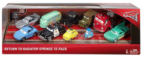 Disney / Pixar Cars Cars 3 Return to Radiator Springs Exclusive Die Cast Vehicle 10-Pack