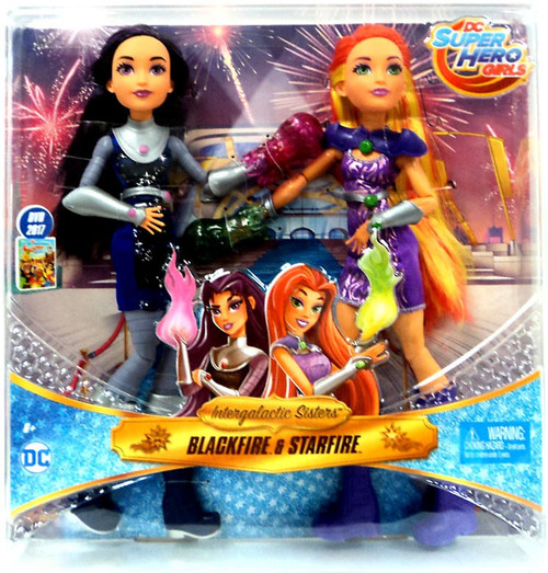 DC Super Hero Girls Intergalactic Sisters Blackfire & Starfire 12-Inch Deluxe Doll 2-Pack