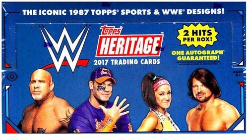 WWE Wrestling Topps 2017 WWE Heritage Trading Card HOBBY Box [24 Packs]