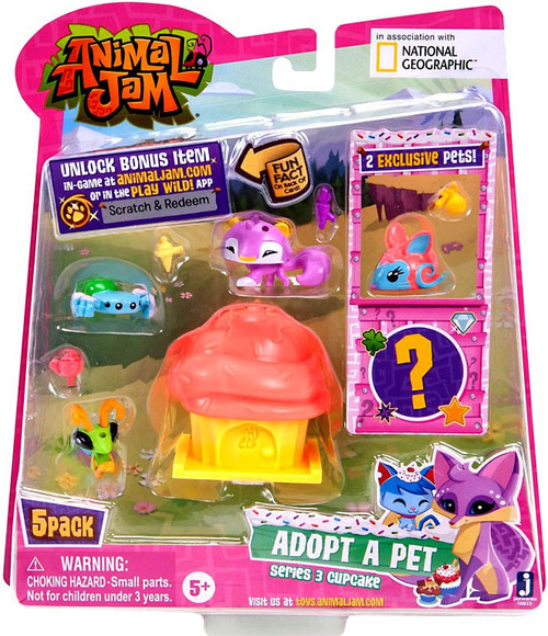 Animal Jam Series 3 Cupcake Mini Figure 5-Pack #3 [Pink]