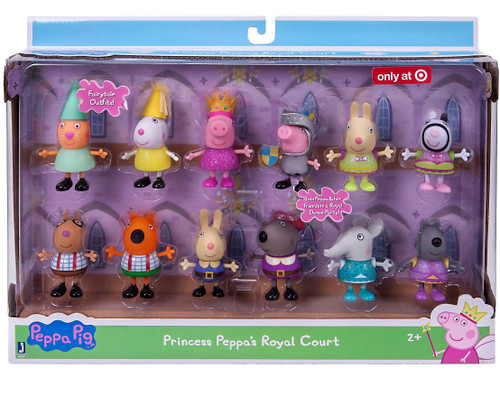 Peppa Pig Princess Peppa's Royal Court Exclusive Figure 12-Pack