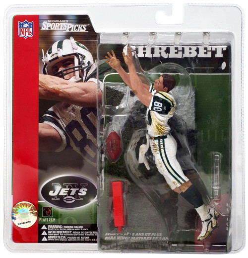 McFarlane Toys NFL New York Jets Sports Picks Series 2 Wayne Chrebet Action Figure [White Jersey, NO Helmet]