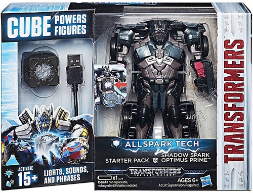 Transformers The Last Knight All Spark Tech Shadow Spark Optimus Prime Starter Pack
