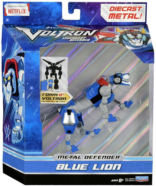 Voltron Legendary Defender Metal Defender Blue Lion Diecast Action Figure