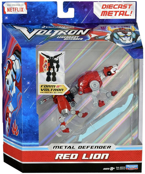 Voltron Legendary Defender Metal Defender Red Lion Diecast Action Figure